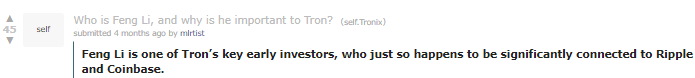 Reddit user Tron Freng Li