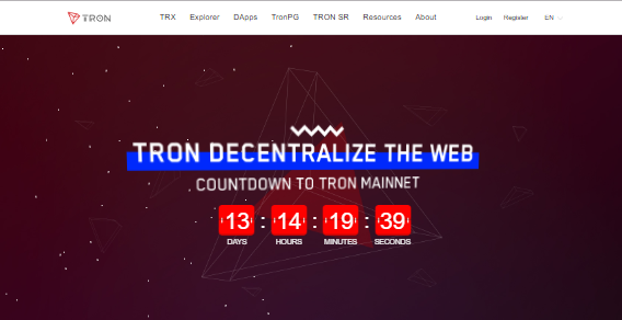 Tron trx redesigned website